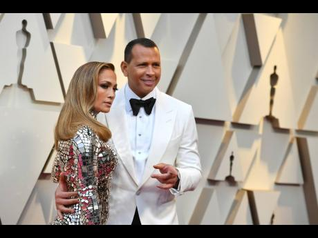 In this February 24, 2019 file photo, Jennifer Lopez and Alex Rodriguez arrive at the Oscars at the Dolby Theatre in Los Angeles.